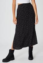 Cotton On - 90s slip skirt daisy spot - black