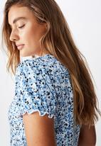 Cotton On - Mackayla midi dress bronte ditsy parisian - blue