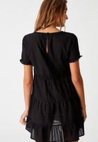 Cotton On - Woven Scarlet tiered mini dress - black