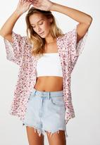 Cotton On - Wanderlust kimono bronte ditsy - multi