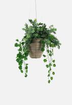 Sixth Floor - Binling hanging planter - brown