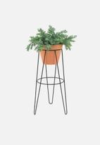Sixth Floor - Standy planter set - black & terracotta