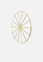 Sixth Floor - Compass hanging mirror - brass antique
