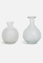 Sixth Floor - Clear vase set of 2 - clear
