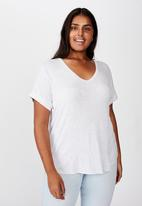 Cotton On - Curve Karly short sleeve tee - grey
