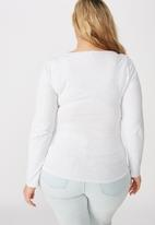 Cotton On - Curve everyday long sleeve scoop top - grey