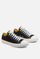 Converse - Chuck Taylor All Star heel logos ox - blk / amarillo / white logo play