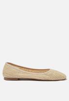 Cotton On - Essential Carina square toe ballet - beige