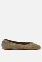 Cotton On - Essential Carina square toe ballet - khaki