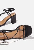 Cotton On - Harper strappy heel - black