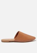 Cotton On - Essential avery almond toe mule - brown