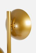 Sixth Floor - Lainey floor lamp - gold & glass