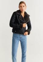 MANGO - Jacket cadi - black