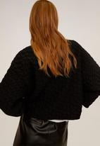 MANGO - Sweatshirt gofra - black