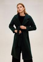 MANGO - Coat robe - green
