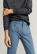 MANGO - Pisa6 trousers - medium blue