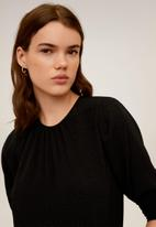 MANGO - T-shirt pluma - black