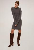 MANGO - Dress frunce - grey