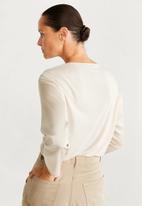 MANGO - T-shirt chemadi - ivory white