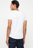S.P.C.C. - Foley slub logo tee - optical white