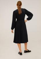 MANGO - Dress pluma - black