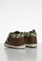 POP CANDY - Strap on camo booties - brown