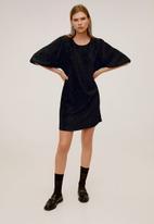 MANGO - Dress ondas - black