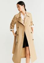 MANGO - Unlined Trench limon - beige