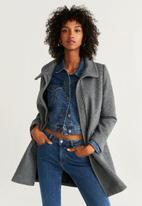 MANGO - Coat swing - grey