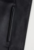 MANGO - Joseno faux leather jacket - black