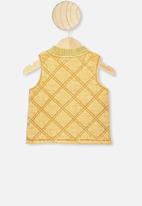 Cotton On - Lewis quilted vest - honey
