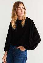 MANGO - T-shirt cute - black