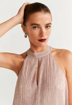 MANGO - Dress halpli - pink