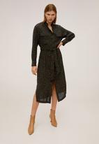 MANGO - Dress araby - khaki