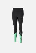 PUMA - Runner id thermo 7/8 tight - green & black