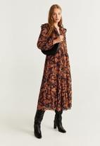MANGO - Velaz dress - rust & black