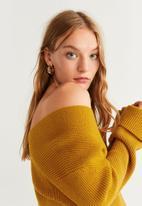 MANGO - V-neck jersey - yellow