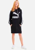 PUMA - Classics t7 hooded dress - black