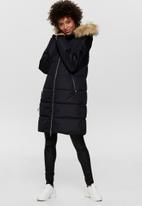 Jacqueline de Yong - Lovina padded hood jacket - black