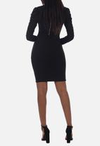 Sissy Boy - Wrap blazer dress with puff sleeve - black