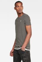 G-Star RAW - Xarrtto short sleeve tee - brown & white