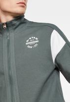 G-Star RAW - Korpaz zip through sweater - grey moss