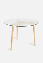 Sixth Floor - Alva dining table - glass/natural