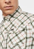 G-Star RAW - Arc 3d slim shirt long sleeve bai check shirt - milk
