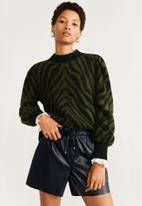 MANGO - Paperbag shorts - black
