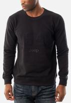 JEEP - Tone logo crew sweatshirt - black