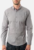 JEEP - Basic long sleeve poplin shirt - grey