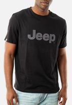 JEEP - Large logo short sleeve tee - charcoal