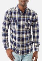 JEEP - Washed back long sleeve shirt - multi