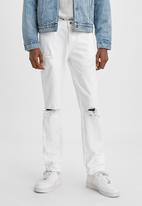 Levi's® - Slim marshmallow burnout dx jeans - white